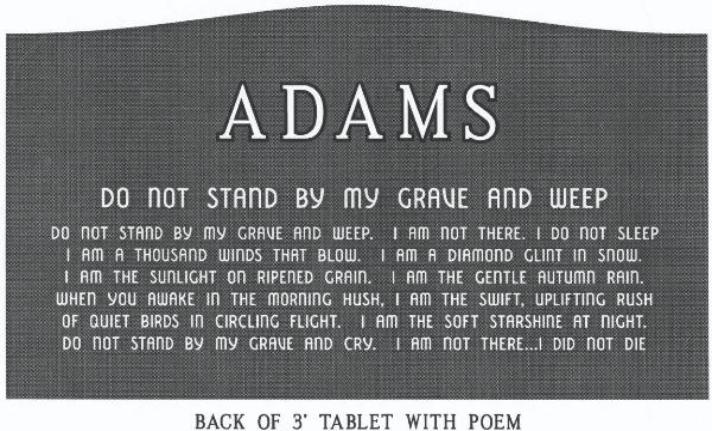 headstone design example